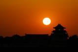 関宿城と夕日④