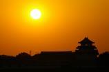 関宿城と夕日③