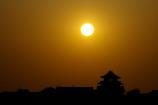 関宿城と夕日②