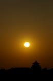 関宿城と夕日①