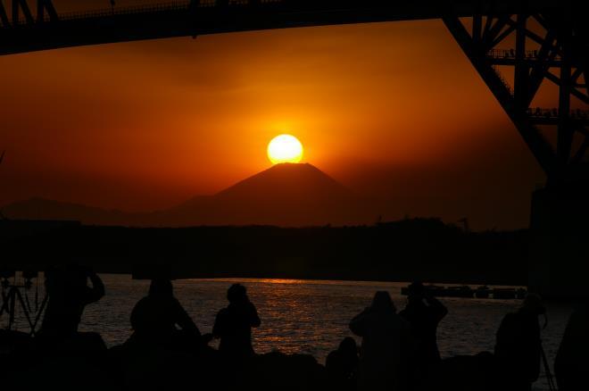 若洲海浜公園からのダイヤモンド富士②