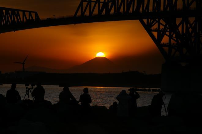 若洲海浜公園からのダイヤモンド富士④