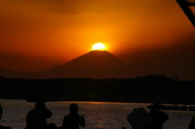 若洲海浜公園からのダイヤモンド富士⑤