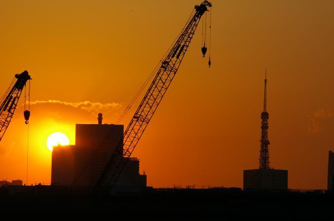 有明北橋からの夕日②
