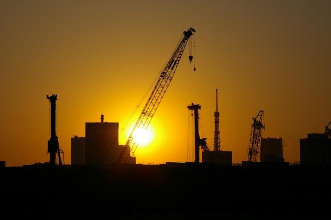 有明北橋からの夕日⑤
