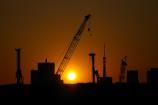 有明北橋からの夕日⑥