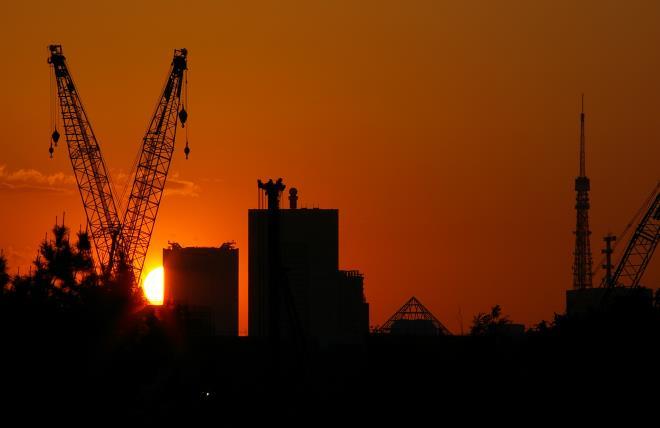 有明北橋からの夕日④