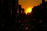 歩道橋からの夕陽⑧