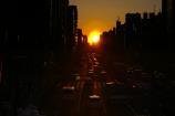 歩道橋からの夕陽④