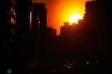 歩道橋からの夕陽⑥