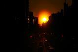 歩道橋からの夕陽③