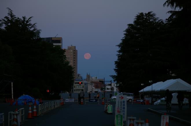 月と富士③