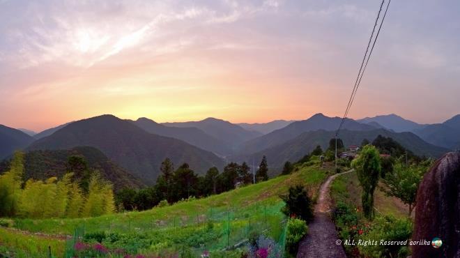 熊野古道 果無集落 天空の郷