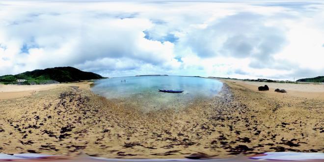 与那国島 比川浜 (Drコトー診療所の前の浜)  aoritheta360