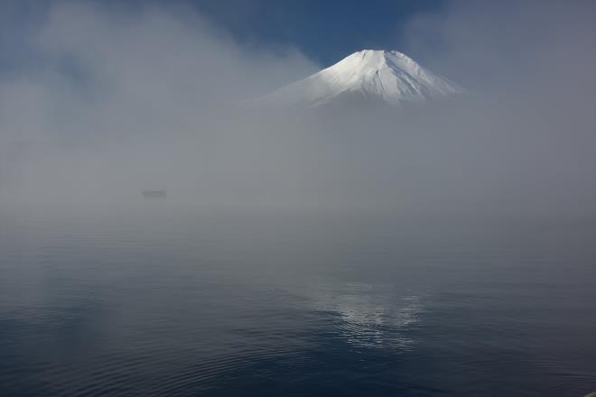 雲海のダブル富士