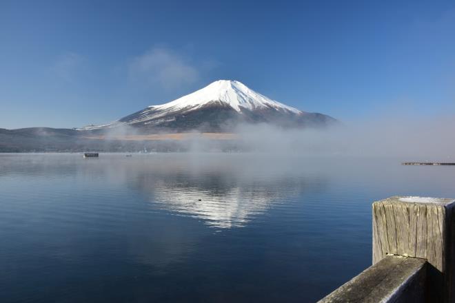 ようやく富士山が見られました
