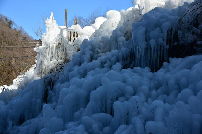 見事な氷の世界です