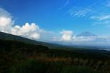 入道雲と富士山