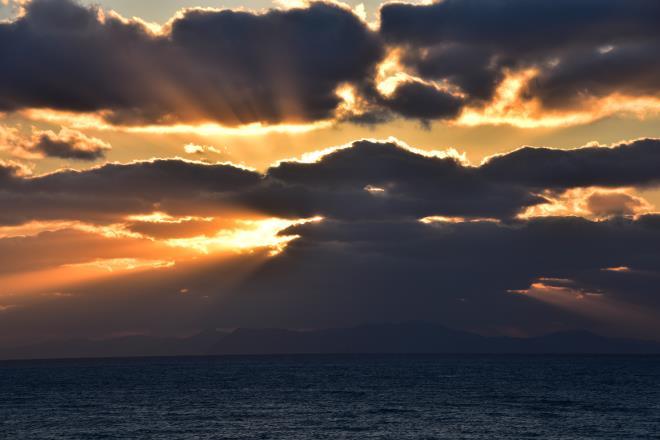 甑島の夕陽