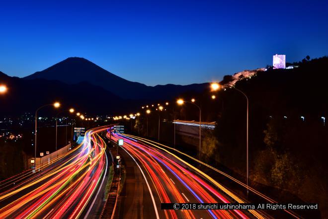 富士へ続く道