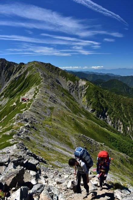 北岳への登山者
